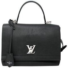 Louis Vuitton Lockme II Noir Black Calfskin Handbag Shoulder Bag