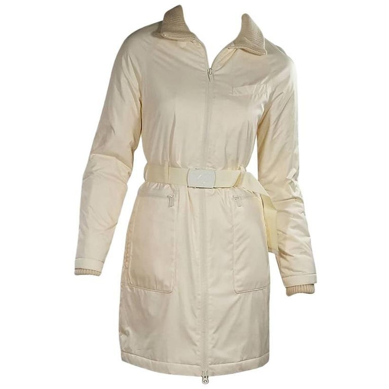 outlet on sale search for clearance the latest Cream Y-3 Belted Winter Coat   1stdibs.com