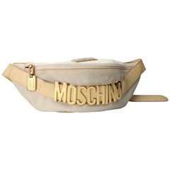Iconic Moschino Creme Fanny Pack Belt Bag