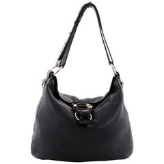 Gucci G Wave Hobo Leather Medium