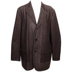 Comme des Garcons Grey Heavy Denim Like Jacket