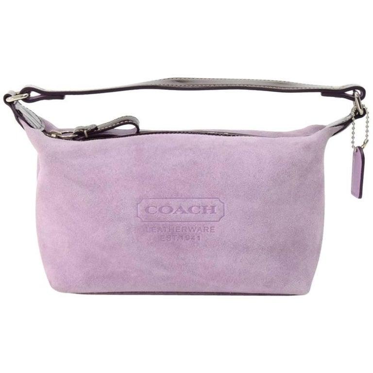 Coach Lavender Suede Leather Small Handbag