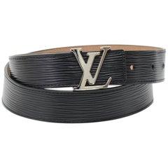 Louis Vuitton Ceinture LV Initiales 30mm Black Epi Leather Belt Size 80 / 32