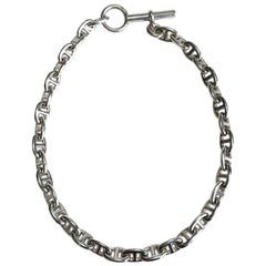 """Hermes """"Chaîne d'Ancre"""" Chain Necklace in Sterling Silver"""