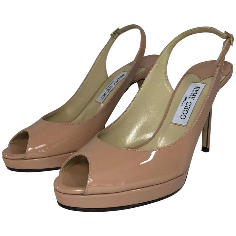 Jimmy Choo Nova Slingback Pump in Blush Patent