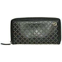 Gucci Diamante Studded Zippy Wallet