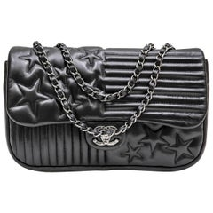 CHANEL 'Paris-Dallas' Flap Bag in Black Smooth Soft Lambskin Leather