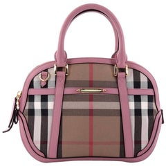 Burberry Bridle Orchard Bag House Check Canvas Medium