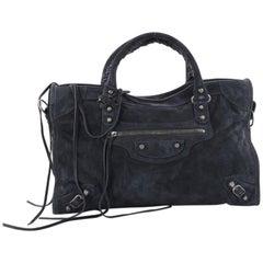Balenciaga Baby Daim City Classic Handbag Suede