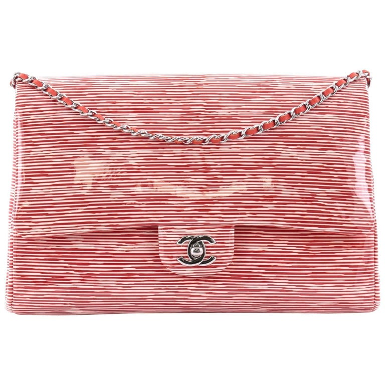 Chanel Clutch with Chain Printed Patent
