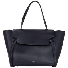 Celine Navy Smooth Leather Small Belt Bag with Dust Bag