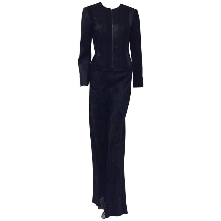Gorgrous John Galliano Black Wool & Silk Pant Suit