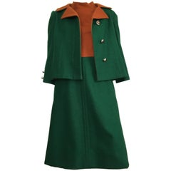 Pattullo-Jo Copeland Wool Jacket & Dress with Pockets Size 6/8.