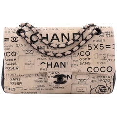 Chanel Classic Double Flap Bag Limited Edition Hand Painted Lambskin Medium