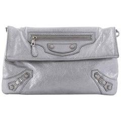 Balenciaga Envelope Strap Clutch Giant Studs Leather