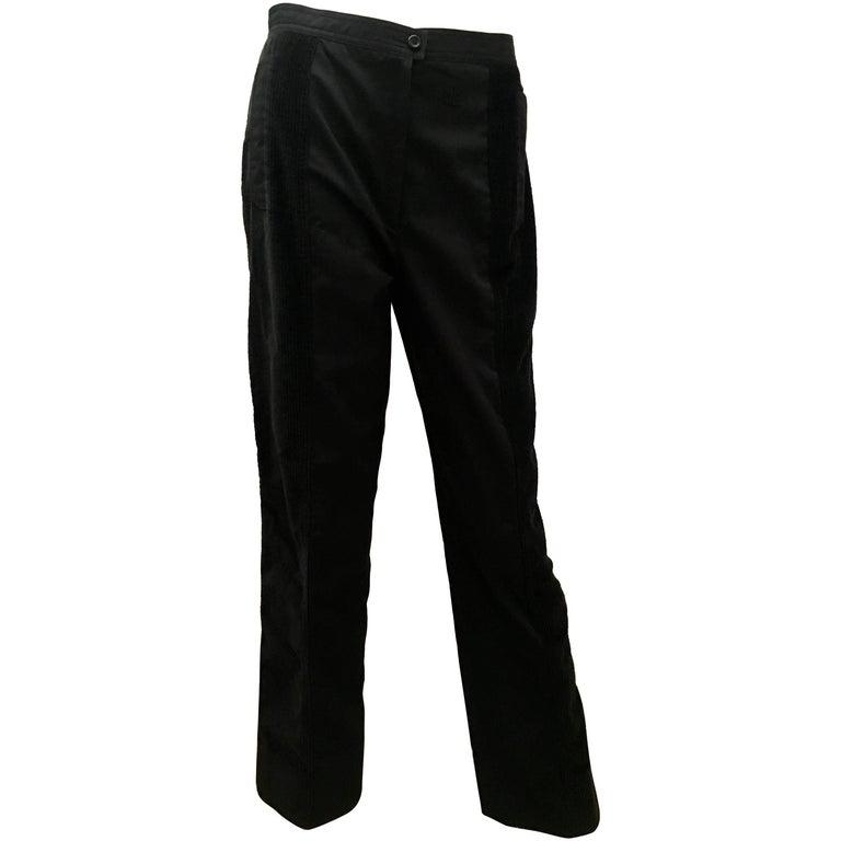 Courreges Corduroy Pants - Black - 1970's