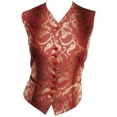 Kenzo Baroque Style Brocade Waistcoat