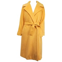 1960s Lilli Ann Buttercup Yellow Wool Coat