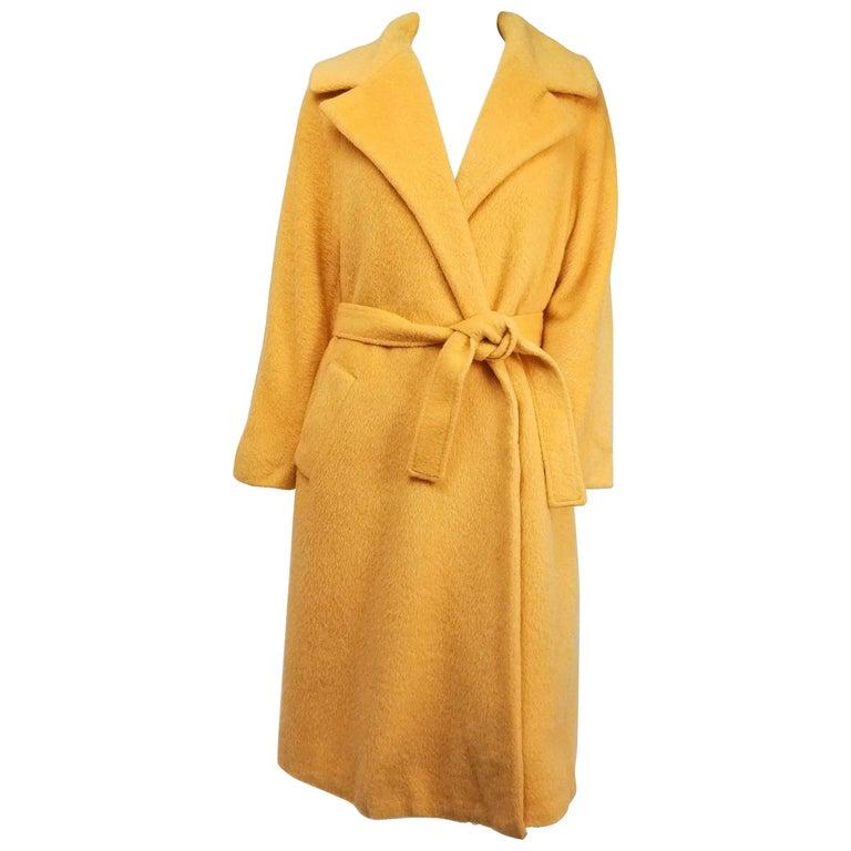 1960s Lilli Ann Buttercup Yellow Wool Coat