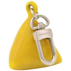 Louis Vuitton Yellow Rubber Limited Edition LV Cup Key Ring Holder