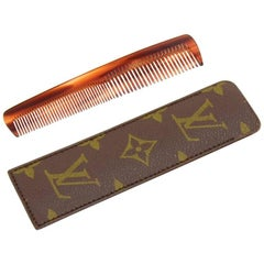 Vintage Louis Vuitton Comb with Monogram Canvas Case
