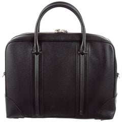 Givenchy New Black Leather Men's Business Travel Briefcase Tote Shoulder Bag