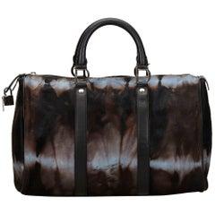 Dior Brown Pony Hair Handbag