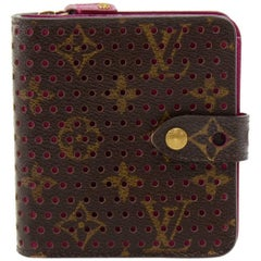 Louis Vuitton Perforated Monogram Canvas Fuchsia Leather Wallet - 2006 Limited E