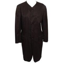 Comme des Garcons Tricot Black Cotton Coat