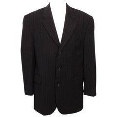 Yves Saint Laurent  Black Pinstripe Jacket