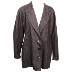 Escada  Grey Wool & Cashmere Blazer  38