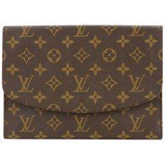 Louis Vuitton Monogram Envelope Evening Envelope Flap Clutch Bag
