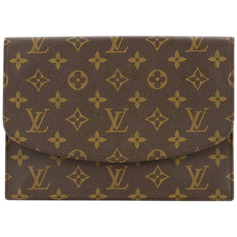 ef8cccf0bacb Louis Vuitton Monogram Envelope Evening Envelope Flap Clutch Bag For Sale