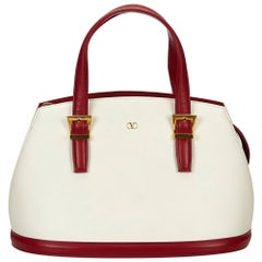 Valentino White Leather Handbag