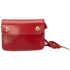 Hermes Red Pochette Bum Bag