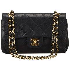 Chanel Black Classic Medium Lambskin Double Flap Bag