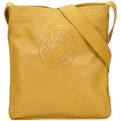 Hermes Yellow Clou de Selle Shoulder Bag