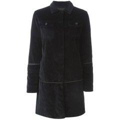 1997  Helmut Lang black velvet coat