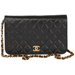Black Quilted Lambskin Vintage Classic Single Flap Bag