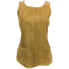Chanel Tan Suede Gilet, 1999