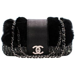 Chanel Tweed Rabbit and Leather small flap bag