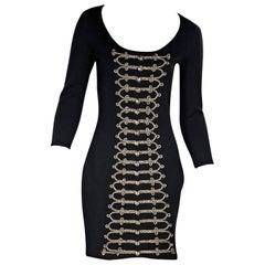 Black Temperley London Knit Sheath Dress