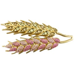 Chanel Pink And Yellow Gold-Plated Wheat Sheaf Brooch, 2003