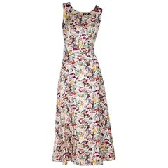 Multicolor Carolina Herrera Printed Silk Midi Dress
