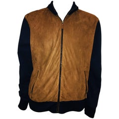 Ralph Lauren Brown Suede Panel Jacket