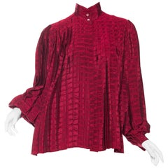 Gucci Pleated Silk Blouse