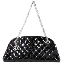 Chanel Just Mademoiselle Handbag Quilted Patent Medium