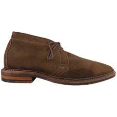 Men's ALDEN Size 7.5 Brown Suede Lace Up Desert Chukka Boots