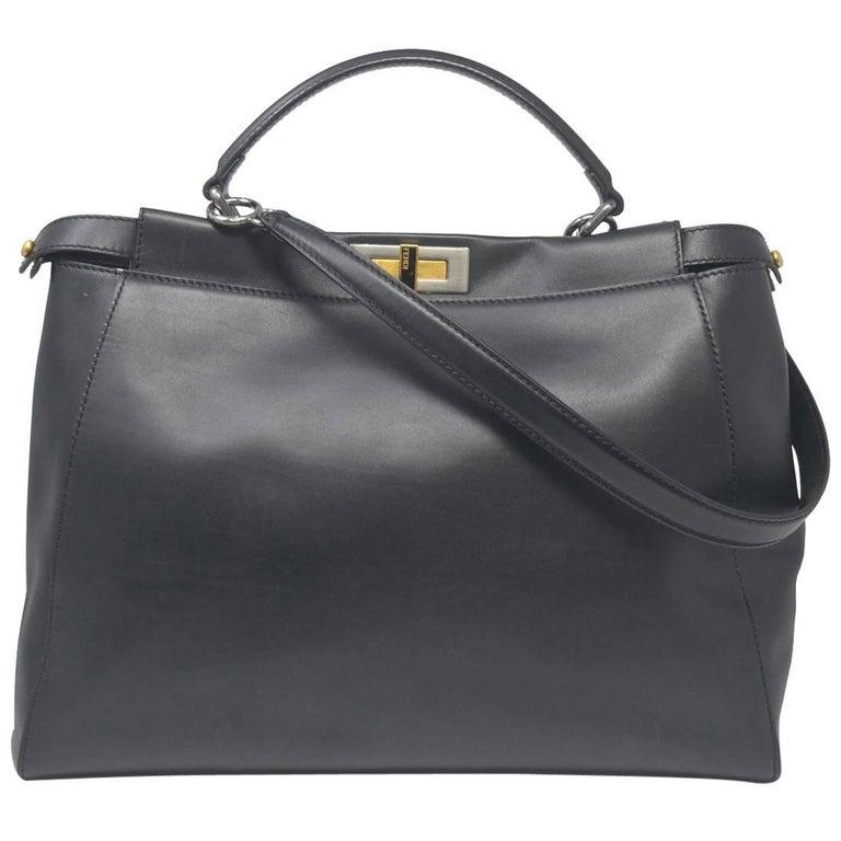 Fendi Large Peekaboo Black leather Handbag