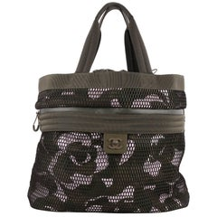 Chanel Sporty Shopping Tote Printed Neoprene with Mesh Large